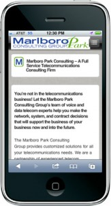 Mobile Website - Marlboro Park Consulting