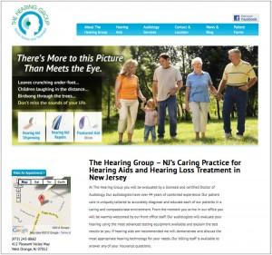 NJ Custom Website for Medical Practice, The Hearing Group of West Orange, NJ