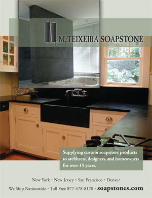 M Teixeira Soapstone Ad in NY Spaces Magazine