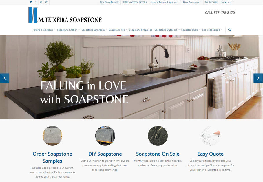 WordPress Website for M Teixeira Soapstone