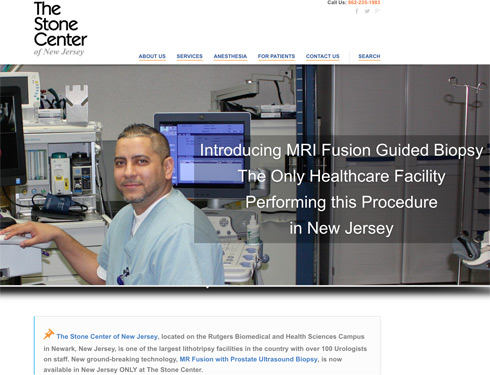 WordPress Website for The Stone Center of NJ