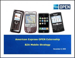 American Express OPEN Externship presents BZA Mobile Marketing Strategy