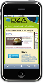 BZA Mobile Web Design