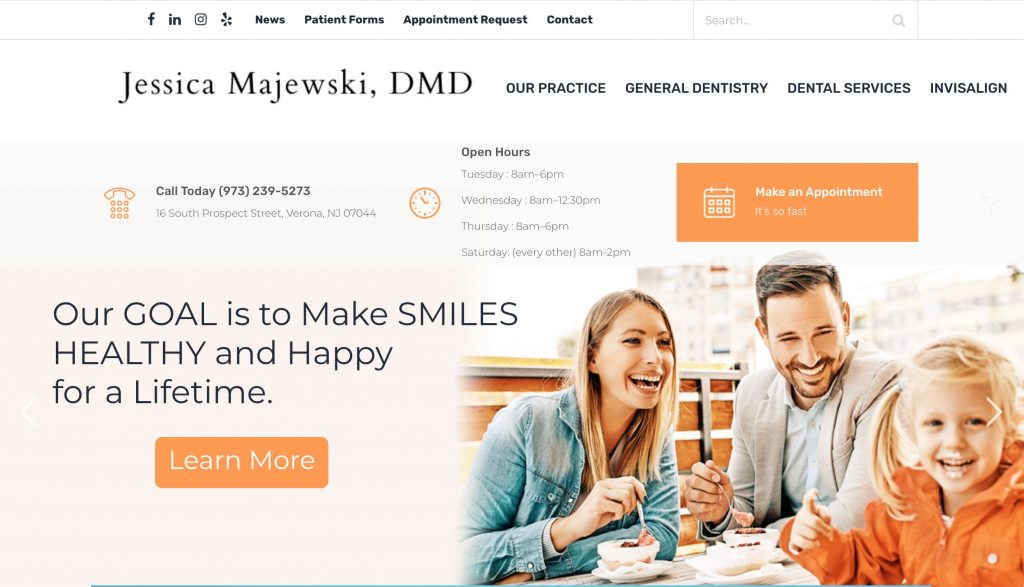 Dental Practice WordPress Web Site
